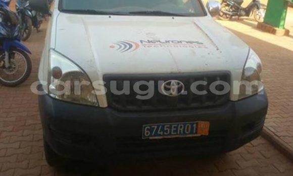 Acheter Occasion Voiture Toyota Land Cruiser Prado Blanc à Ouagadougou au Burkina-Faso